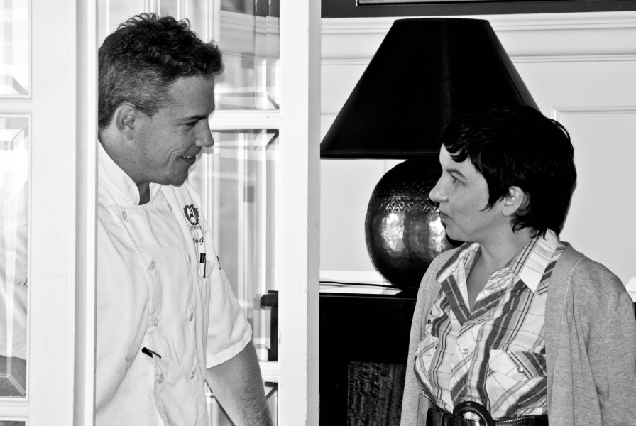 Grand Chef Jonanthan Gushue and author at Lagndon Hall